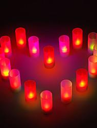 romântico à luz de velas em forma de noite colorido levou para presentes festa de casamento (8-pack)