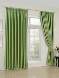 twopages® двух панелей классические твердые зеленой комнате затемнение шторы шторы