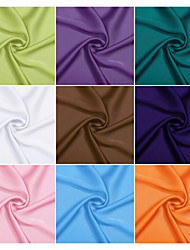 100% Polyester Satin Chiffon Fabric By The Yard (Many Colors)