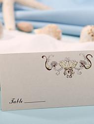 Place Card - Elegant Flower Patten (Set of 12)