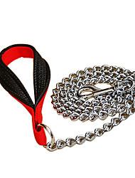poignée en nylon lien zincifière chaîne chien en laisse le style (125 x 3,5 mm, argent)
