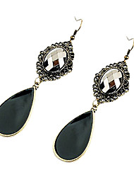 Drop Earrings Crystal Alloy Fashion Drop Black Jewelry Party