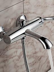 Sprinkle® - por LightInTheBox - contemporâneo de parede torneira banheira sólida latão cromado