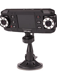 1280 x 480 2.4 Inch Display Car DVR with Night Vision, Motion Detection
