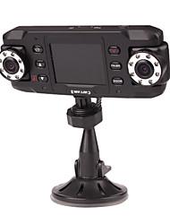1280 x 480 2,4 polegadas carro DVR com visão noturna, detecção de movimento