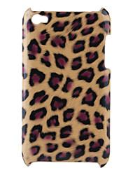 cas d'impression de léopard dur pour ipod touch 4 (marron)