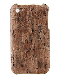 древесины стиль жесткий чехол для iphone 3G и 3GS (коричневый)