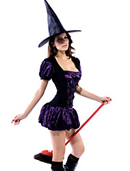 Sexy Purple Sorceress Dress Halloween Costume (2Stück)