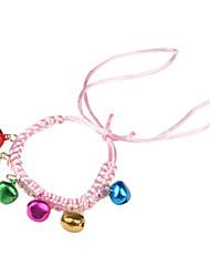 маленький колокольчик ручной вязки воротник прелести для собак и кошек (розовый)