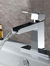 Sprinkle® - por LightInTheBox - sólido bronze contemporânea cachoeira torneira pia do banheiro (acabamento cromado)