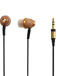 legno in-ear auricolare stereo per musica ipod/ipad/iphone/mp3