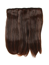 Clip In/On Straight Brown Hair Extensions-2 Colors Available