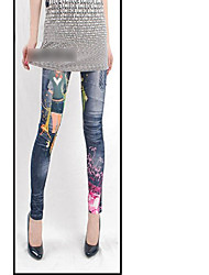 Цветочные печатные Жан леггинсы