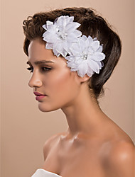 Gorgeous Tulle Wedding Bridal Two White Flower/ Corsage/ Headpiece