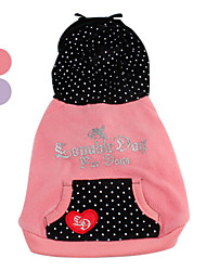 Cupid Pattern Velvet Hooded Jacket with Pocket for Dogs (XS-XL, Assorted Colors)