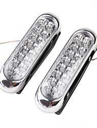 2 x grille de voiture Universal Jour Pluie Aux 16 LED White Light