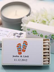 decoración de la boda cajas de fósforos personalizados - zapatillas (juego de 12)