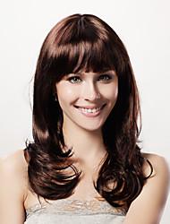 capless longa peruca curly estrondo marrom sintética completa