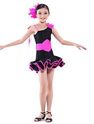 Dancewear Spandex Latin Dance Dress for Children