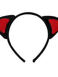 Red Cat Ears Halloween Bandeau (1 pièce)