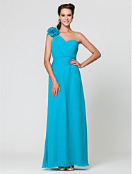 Floor-length Chiffon Bridesmaid Dress Sheath / Column One Shoulder / SweetheartApple / Hourglass / Inverted Triangle / Pear / Rectangle /