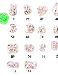 10pcs Nuevo Metal 3D Nail Decoraciones