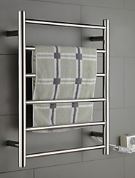 "Towel Warmer Stainless Steel Wall Mounted 680 x 530 x 112mm (26.7 x 20.8 x 4.40"") Stainless Steel Contemporary"