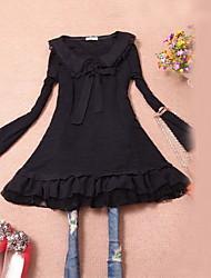 Women's Lace Doll Collar Chiffon Dress