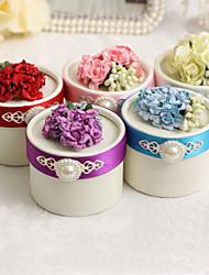 круглые коробки пользу с цветком и жемчужиной - набор из 12 (больше цветов)