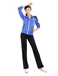 92% das mulheres chinlon longas mangas lisas Suits (camisola + calças)