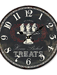 Country Wall Clock in Black