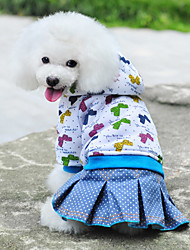 Lucky Bowknot Pattern Warm Hoodie Coat with Skirts for Dogs (Assorted Color,XS-XL)