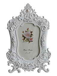 "4"" x 6"" Floral Accents Polyresin Tabletop Picture Frame"