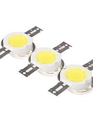 DIY 10W 800-900LM 6000-6500K Natürliche White Light Round Integrierte LED Module (9-11V, 3-Pack)
