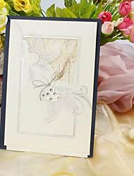 belle invitation florale de mariage de conception (jeu de 50)