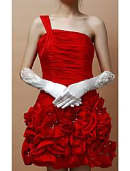 Sweet Elastic Satin Fingertips Elbow Length Women's Wedding/Evening Gloves (More Colors)