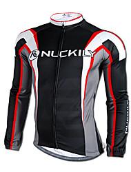 Hauts/Tops / Mailliot -(Noir) de Cyclisme - Résistant aux ultraviolets / Séchage rapide / Garder au chaud  à Manches longues HommeS / M