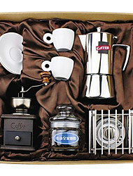 Coffee Series Boxed Gift (Moka & Siphon Pot, Grinder, Cups)T-512