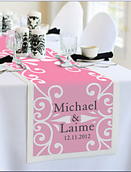 Table Centerpieces Personalized Reception Desk Table Runner - Pink Romance  Table Deocrations