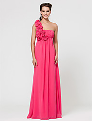 Wedding Party / Formal Evening / Military Ball Dress - As Picture Sheath/Column One Shoulder Floor-length Chiffon