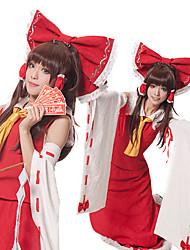 Touhou Project Reimu Hakurei Kimono Sleeves Cosplay Outfit