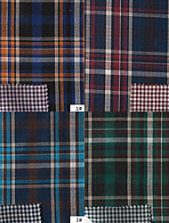 100% Cotton Woven Double Layer Cloth Plain Plaids By The Yard (Many Colors)