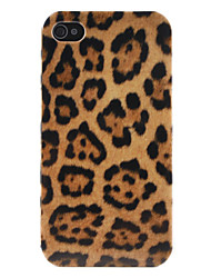 Custodia rigida stile pelle di leopardo per iPhone 4 e 4S - Multicolore