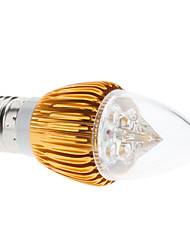 E27 4W 380-410LM 3000-3500K Warm White Light Gold Shell LED Candle Bulb (85-265V)