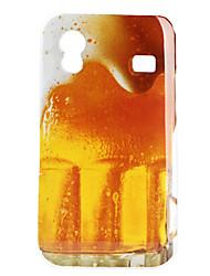 Caso cerveja padrão rígido para Samsung Galaxy Ace S5830