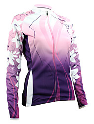 Santic Warm Keeping Women's Long-Sleeve Cycling Jersey Suits with Fleece Side