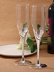 cuori di design champagne flauti tostatura