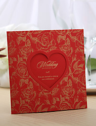 Personalized Rose Design Wedding Invitation With (Set of 50)