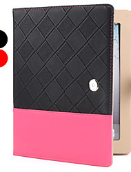 Case for iPad 2/3/4 (couleurs assorties) bicolore grille Pattern PU cuir