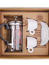 Coffee Series Boxed Gift (French Press Pot, Cups)T-201